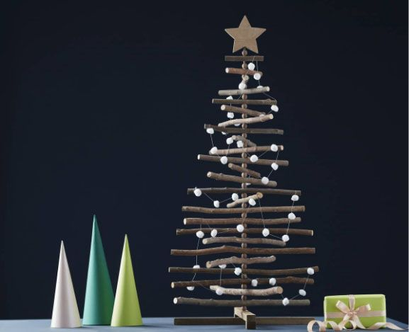 this eye catching hobbycraft christmas tree gets lots of points its simple small - Inexpensive Christmas Trees