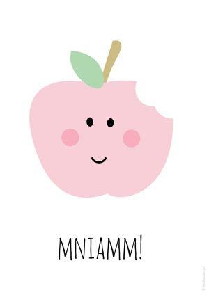 Plakat dla dzieci jabłko