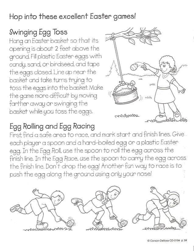 egg toss coloring pages - photo#19