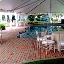 Fiesta frame tent over pool