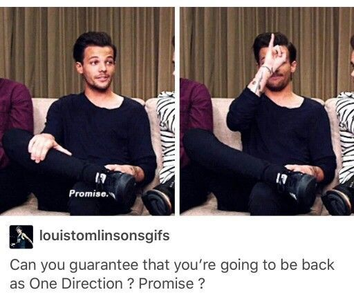 Louis<3 my darling promised us and I trust him