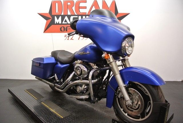 garage ac ideas - Matte Blue Paint Street Glide Touring Bikes