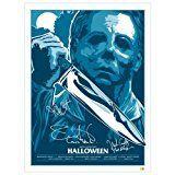 #6: Jamie Lee Curtis Nick Castle John Carpenter Autographed 1824 Halloween Poster