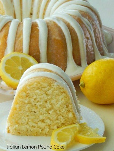Italian Lemon Pound Cake. I love the mild lemon flavor that this cake has. It isn't the over powering mouth puckering lemon flavor like som...