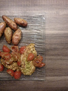 Poulet au pesto et tomates cerises - Weight Watchers Propoints