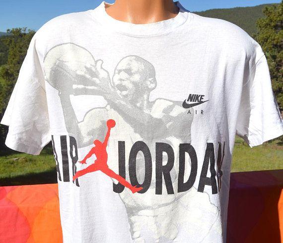 Vintage 90s T Shirt Space Jam Michael Air Jordan Hare Bulls Etsy Nike Tees Air Jordans Shirts