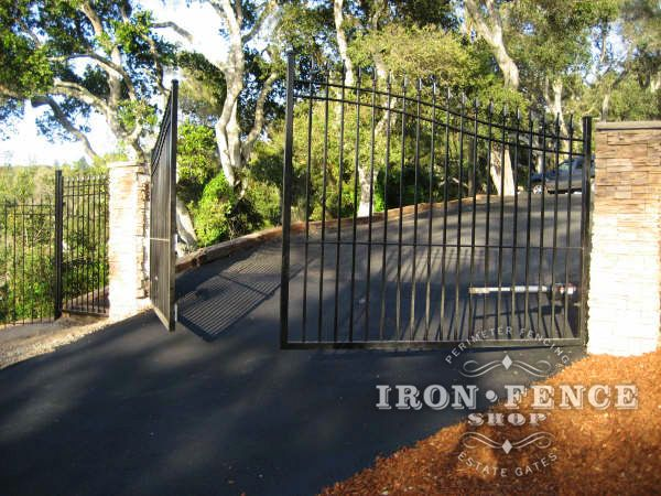 A Gorgeous Picture Of Our 16 Foot Arched Iron Double Gate