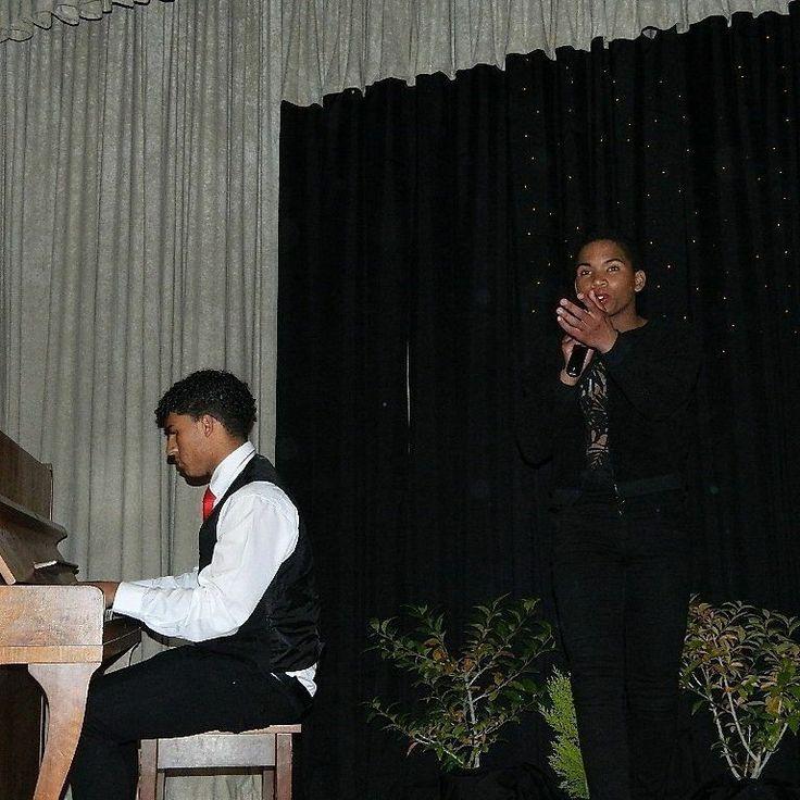 Singing live.