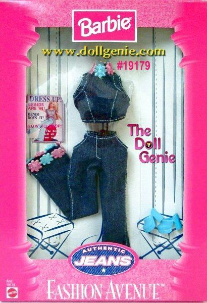 Barbie Fashion Avenue Jeans Pants and Halter top Clothing ...