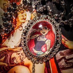 Chapelet rosaire perles noires hématite camée mexican sugar skulls calavera gypsy bohème ♰tattooed ariel♰