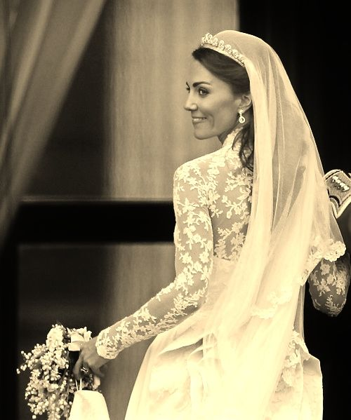 Catherine Duchess Of Cambridge Or Kate Middleton On Her Wedding Day The For