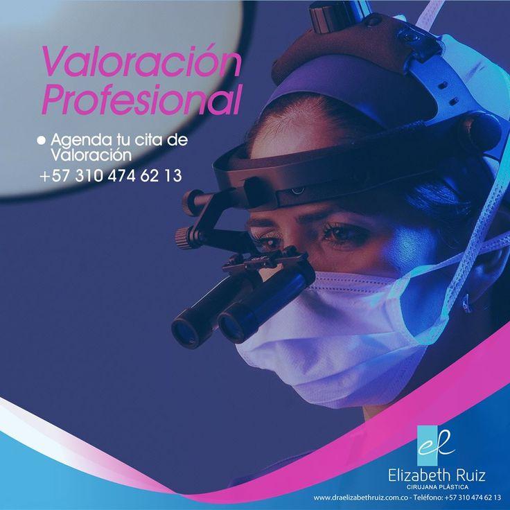 La valoración de una profesional idónea como la Dra. Elizabeth Ruiz es el primer paso para que tu cirugía plástica sea exitosa.  Contáctanos ahora llamando al (+57) 310 474 62 13 o a través de nuestro sitio web.  Dra. Elizabeth Ruiz Médica y Cirujana Cirujana Plástica Miembro de la Sociedad Colombiana de Cirugía Plástica. CQB - Consultorio 203  PBX: 572 513 15 -72 - 57 310 474 62 13 - 57 320 695 89 19  #plasticsurgery #cirugiaplastica #plasticsurgeon #cirujanaplastica