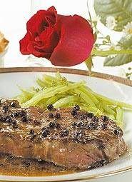Steak au poivre (carne salteada con pimienta negra triturada) - Recetas