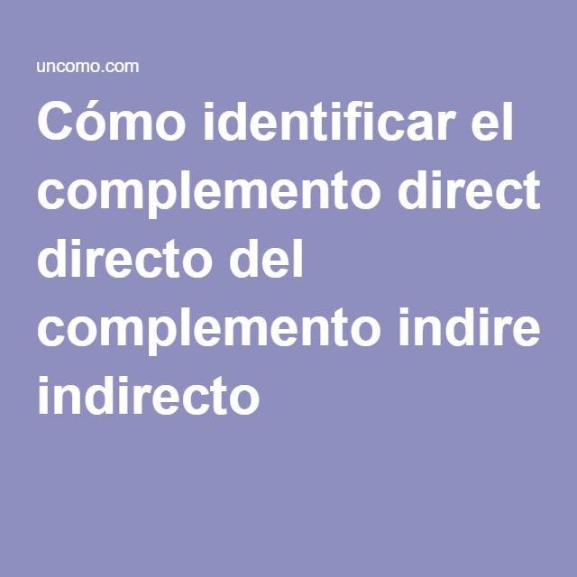 Pronombres de Objeto Directo o Indirecto - Spanish ...