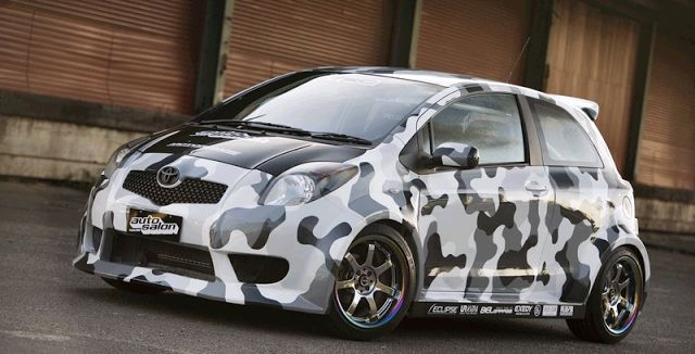 urban camo yaris now you see me now you don 39 t pimp. Black Bedroom Furniture Sets. Home Design Ideas