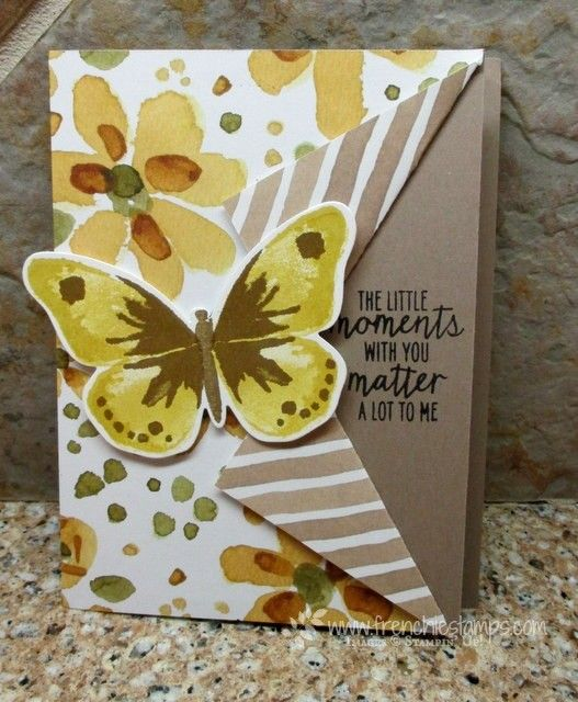 Stamp & Scrap with Frenchie: Collar Fold with Watercolor Wings