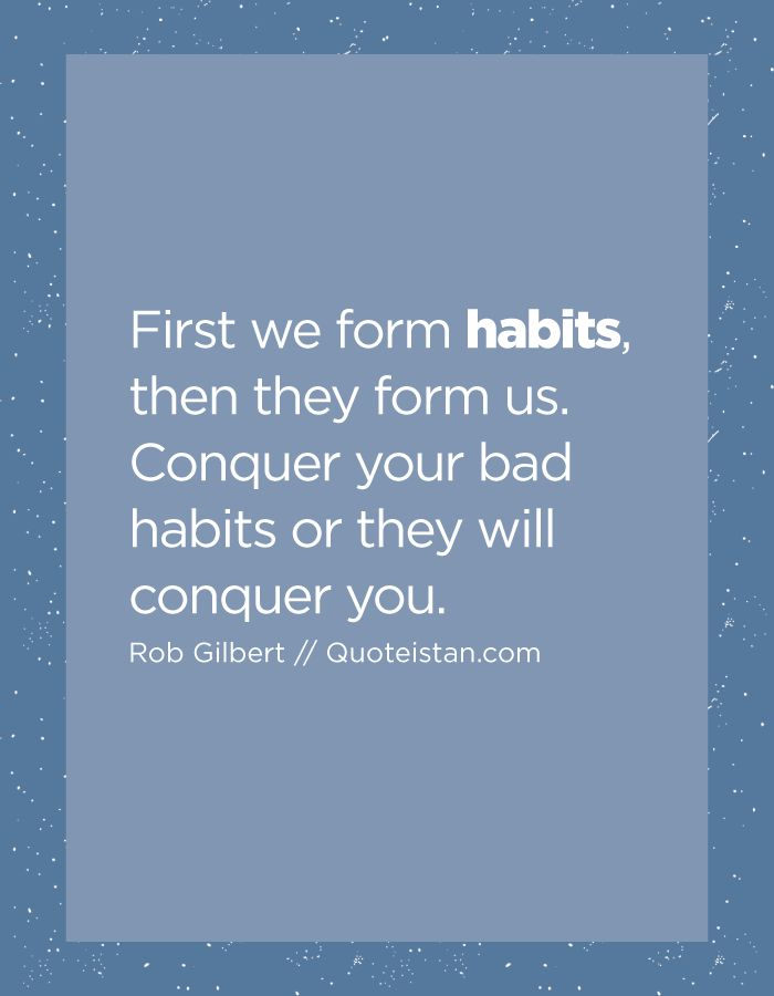 how to change your bad habits
