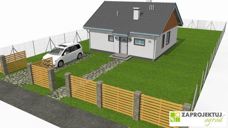 Pusta działka, przed zagospodarowaniem. http://www.zaprojektuj-ogrod.pl/pl/OrderGardenProject/Index