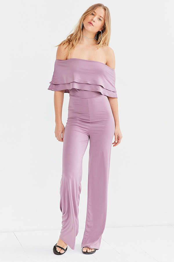 Slide View: 6: Oh My Love Emily Off-The-Shoulder Jumpsuit