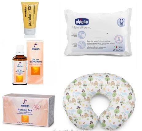 Nella delicata fase di avvio dell'allattamento ti consigliamo il kit allattamento composto da: cuscino Boppy, crema alla lanolina Purelan, olio e tisana Weleda....