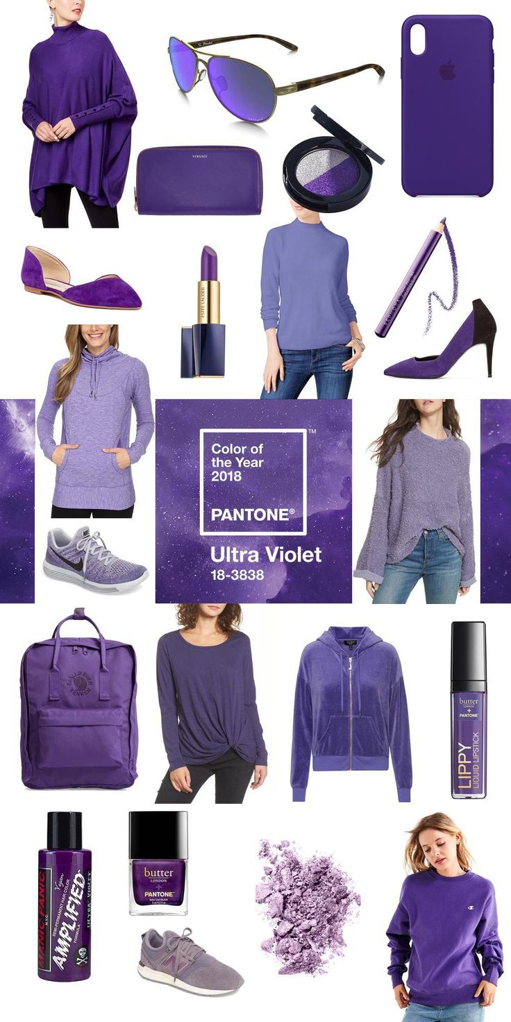 The Pantone color of the year 2018 is Ultra Violet. I think it probably surprised some people that this year's color is a purple again, and although I didn't make any predictions like I did the last t