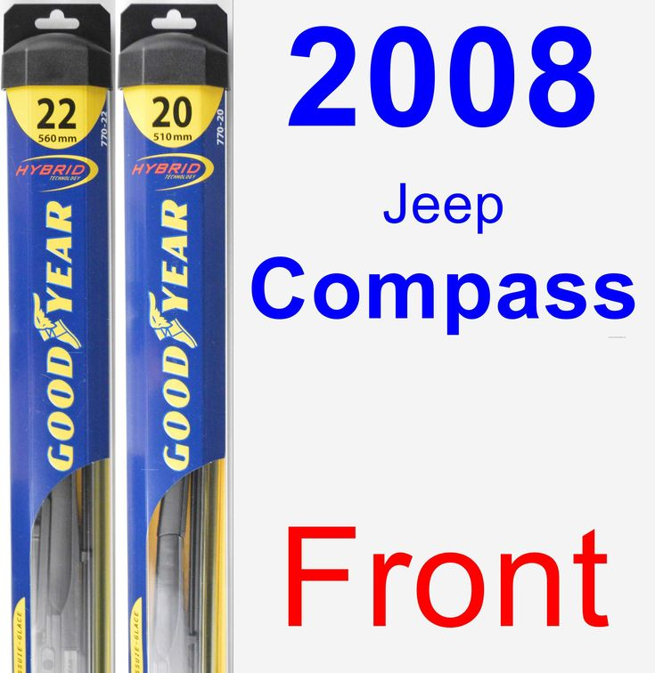 Front Wiper Blade Pack for 2008 Jeep Compass - Hybrid