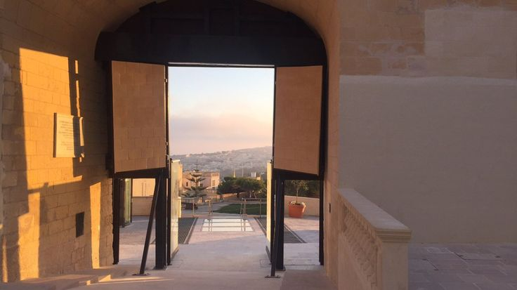 The sunset as seen from inside the gates of Gozo's Citadella. The island of Malta has got many beautiful sights!