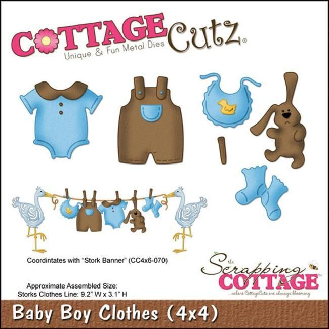 CottageCutz Die - Baby Boy Clothes - Scrapbooking Made Simple