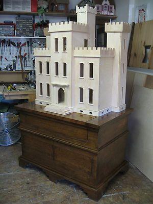 "Dollhouse Thornhill Castle 1"" Scale | eBay nice design and style.  Rick Maccione-Dollhouse Builder www.dollhousemansions.com"