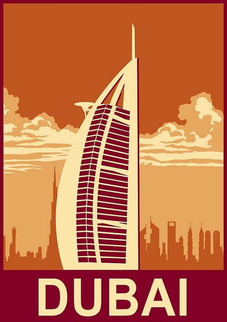 Dubai - Travel Poster by Rhys_Callow, via Flickr