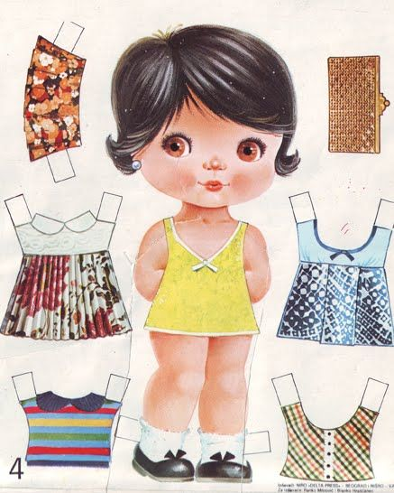 Paper Doll Template | These retro ones are just the best, want you agree? They are from 1982 ...