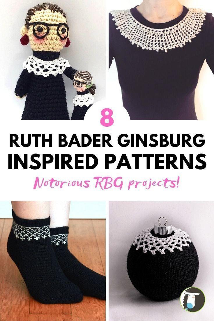 Ruth Bader Ginsburg Inspired Knit And Crochet Patterns Blog Nobleknits Knitting Blogs Crochet Collar Pattern Crochet