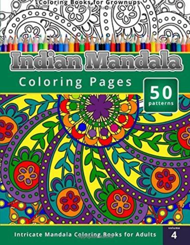 Coloring Books For Grownups Indian Mandala Pages Intricate Adults By Chiquita Publishing Paperback