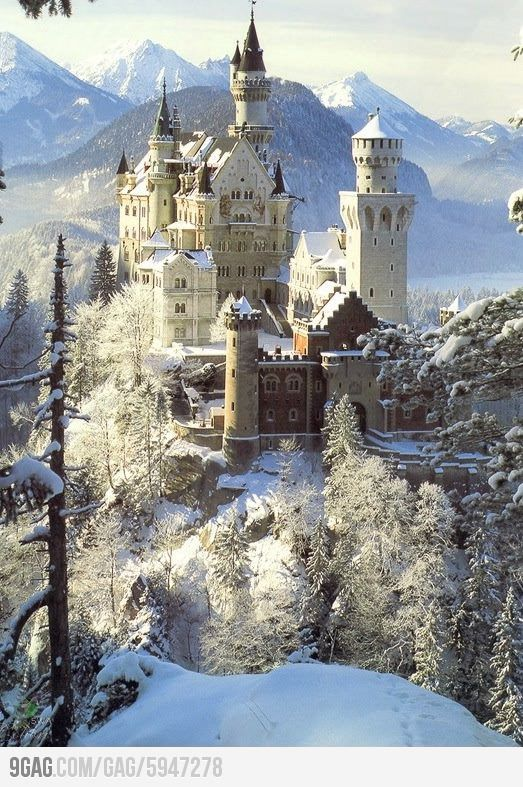Follow the Romantic Road to Neuschwanstein in Germany.  This is scenery straight out of a fairy tale.