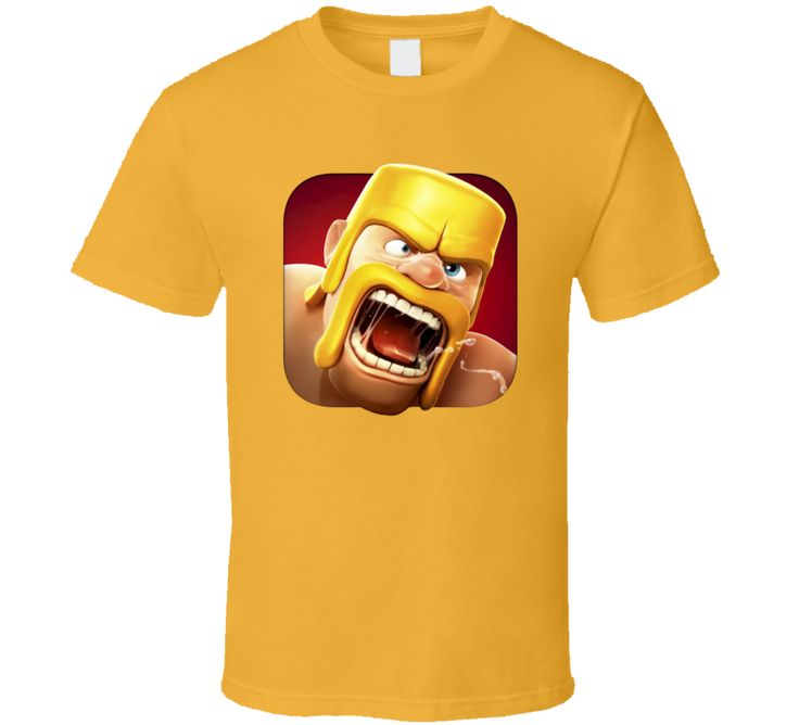 Clash of Clans Video Game Barbarian King Face T Shirt
