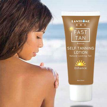 50ML Fast Tan Enhancer Beauty Black Body Cream Bronzer Self Tanning Lotion Natural Looking