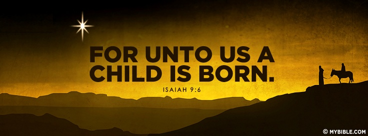 Image result for for unto us a child was born text