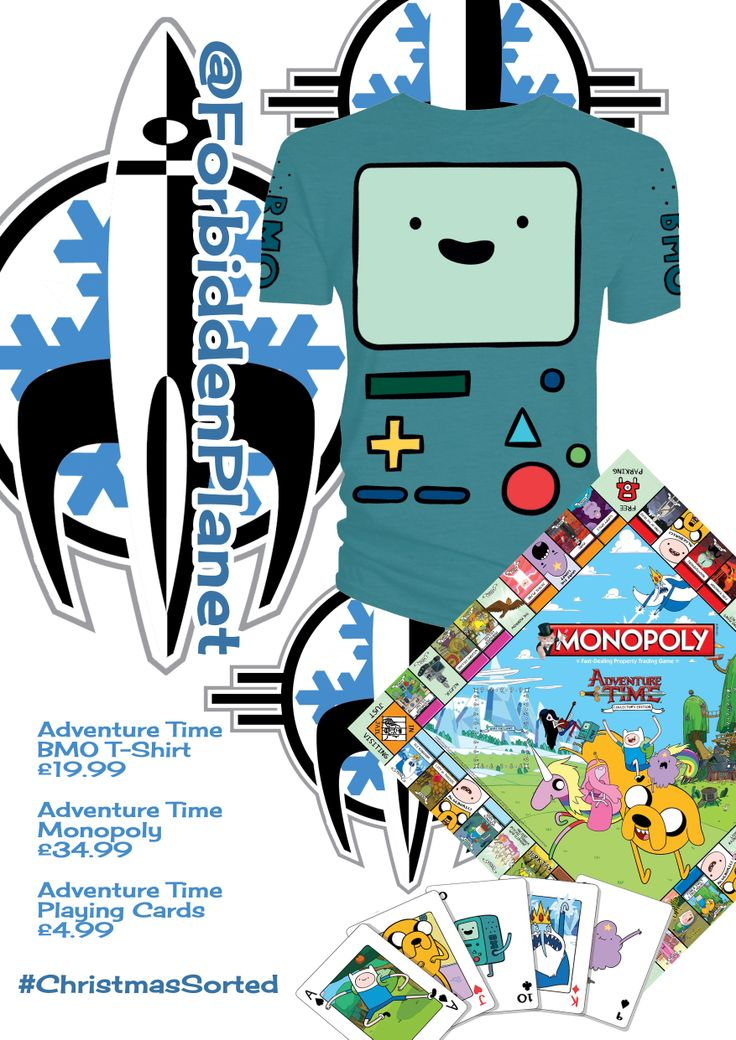 Have a @ForbiddenPlanet.com.com Christmas with Adventure Time!!