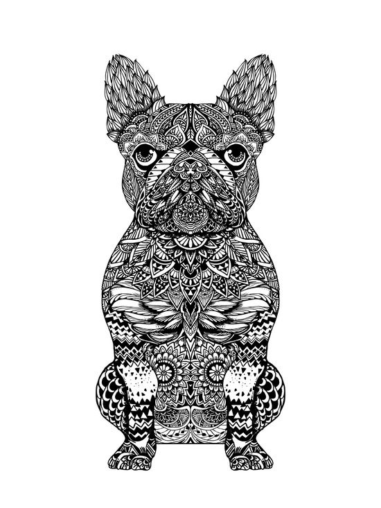 Mandala Frenchie Art Print Printing