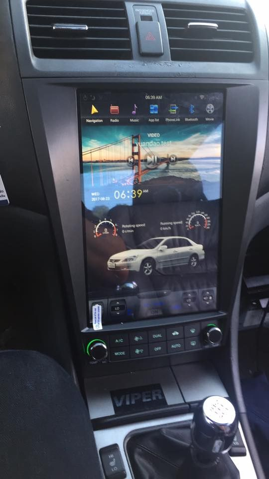 121 Tesla Vertical Touch Screen Indash Car Dvd Auto Gps Navigation Rhpinterest: 2007 Accord Interior Radio At Gmaili.net
