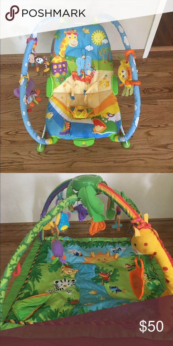 Fisher price bouncer and activity gym  bundle Fisher price bouncer and activity gym play mat Other