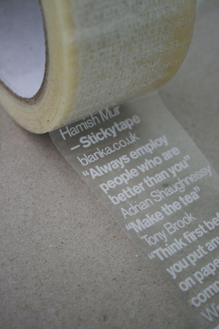 "(""Good advice sticks"" sticky tape w/ quotes from Blanka £7.31"