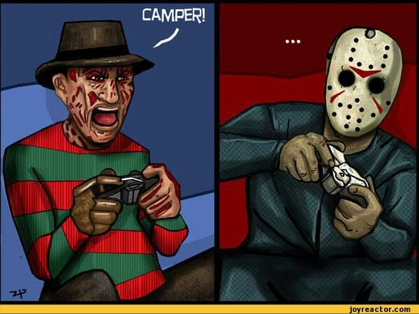 Freddy Kruger & Jason Voorhees ~ Playing PlayStation