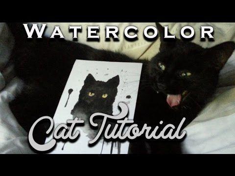 Watercolor Cat Tutorial   ►Laurart◄