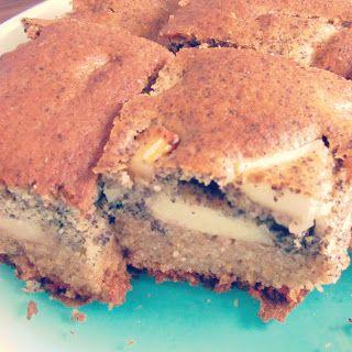 Low-carb/diabetic apple poppyseed cake