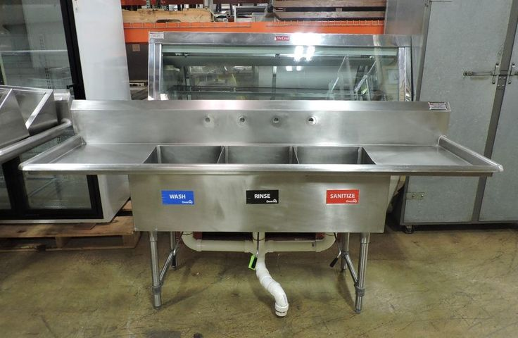 Commercial Stainless Steel 3 Compartment Sink Sinks For