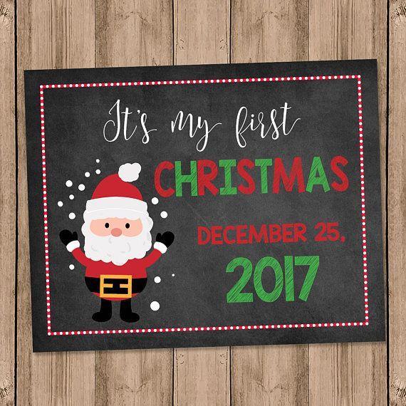 Baby's 1st Christmas Digital Sign Prop Printable