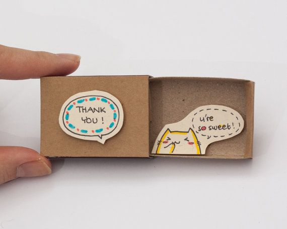 Merci carte You're so sweet Matchbox / carte Gretting par shop3xu