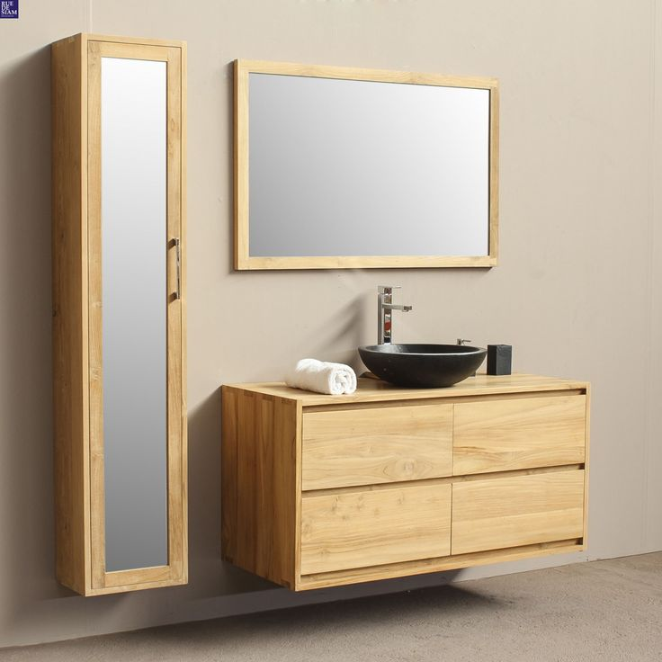 8 best Salle de b azote i images on Pinterest Bathrooms, Bathroom - meuble salle de bain marron