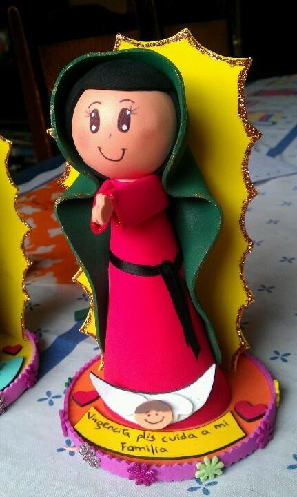 Fofucha Virgen de Guadalupe | Fofuchas :) | Pinterest | Virgen De ...